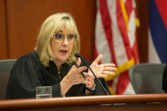 Judge Consuelo Callahan was a prolific questioner during Wednesday's oral arguments.